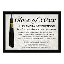 Formal College Graduation Announcements Custom Year Formal Tassel College Graduation Invitation