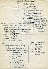 Handwritten Resume By Yun Gee Circa 1940 Yun Gee