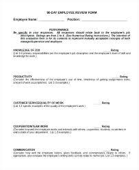Job Evaluation Template Amazing 44 Day Employee Evaluation Template