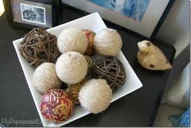 Decorative Balls And Bowls Inspiration Decorative jute balls My Repurposed Life