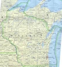 wisconsin outline maps and map links