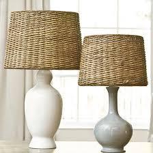 impressive wicker lamp shades of dareau woven rattan shade ballard designs