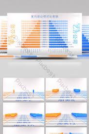 Video Comparison Chart 3d Data Chart Comparison Chart Showing Ae Template Video