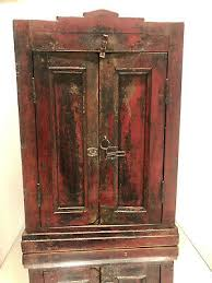 antique vintage rustic red wooden