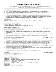 Laboratory Technician Resume Sample Resume For Medical Laboratory Technician medical laboratory 57