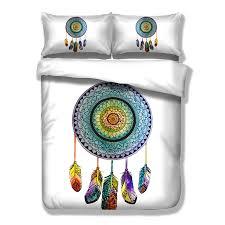 bohemian style bedding set dream catcher printed bed linens queen size duvet cover pillowcase dreamcatcher king size bedding set just bohemian style