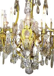 louis xv 19th century gilt bronze and crystal chandelier from the spelling manor for