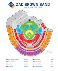 Citi Field Concert Seating Chart Zac Brown Band Zac Brown Band