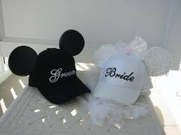 bride groom mouse ear hats