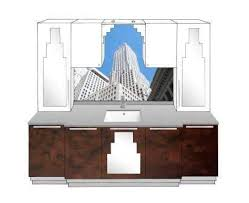 art deco bathroom furniture. New Art Deco Bathroom 5 Door Vanity Unit With Paul Frankl Skyscraper Style Designs \u0026 Furniture