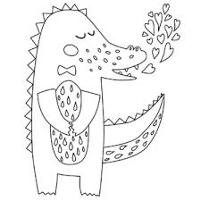 sweet crocodile coloring page
