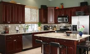 cherry cabinets countertop photos cherry kitchen cabinets with black granite countertops