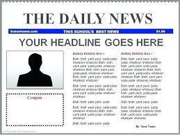Fake Newspaper Template Word Fake Newspaper Headline Template Ethercard Co