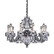 schonbek 1260n 48s bale 13 light crystal chandelier in antique silver with clear crystal from swarovski