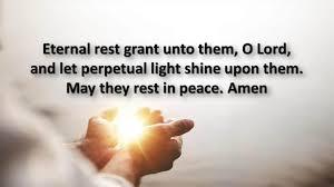 Eternal Rest Prayer for The Dead