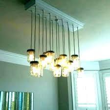 glass bottle chandelier 1 homemade