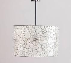 nib pottery barn marina drum pendant capiz shell chandelier ship or atl p u