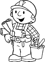 Small Picture Bob The Builder Coloring Page Wecoloringpage