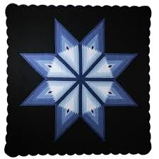 Lone Star Log Cabin Quilt from DutchCrafters Amish Furniture & Lone Star Log Cabin Quilt Adamdwight.com