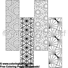 Wagara Pattern Bookmark Coloring Page 1806 イラスト集 大人の