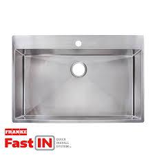 stainless steel drop in sink. Modren Stainless Franke FastIn 335in X 225in Stainless Steel SingleBasin Throughout Drop In Sink S