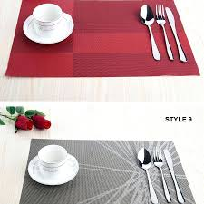 vinyl placemats red plastic bulk round table