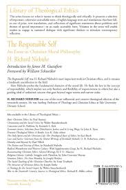 The Responsible Self An Essay In Christian Moral Philosophy