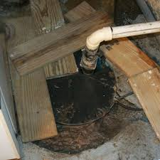 an ugly clogged sump pump system in huntington long island