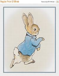 May Sale Digital Chart Peter Bunny Rabbit By Beatrix Potter Counted Cross Stitch Chart Pattern Free Shipping