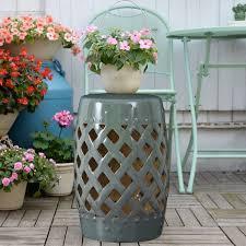 ceramic lattice garden stool