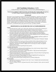 Resume Social Service Resume