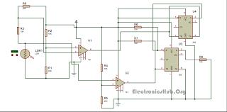 circuit diagram of unambiguous night lamp switcher