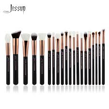 gold and black makeup brushes. jessup rose gold/black professional makeup brushes set make up brush tools kit foundation powder natural synthetic hair-in \u0026 gold and black
