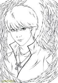 Coloring Pages Of Anime Angels Anime Angel Lineart Coloring