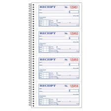 Adams Carbonless 2 Part Spiral Money Rent Receipt Book 11in X 5 1 4in Book Of 200 Sets Sc1152