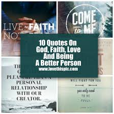 Quotes About Faith Unique 48 Quotes On God Faith And Being A Better Person