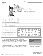 Small Picture American Flag Edu Color Worksheet
