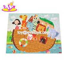 2019 new hottest preschool wooden kids mosaic puzzles for education w14n006