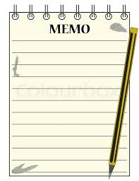 Notepad Template A Lined Memo Blank Notepad Template Or Stock Vector Colourbox