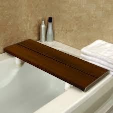 bathtub tray bathroom caddy teak bathtub caddy