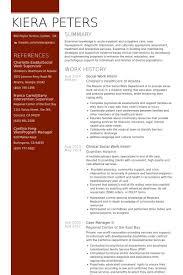 Social Work Resume Examples Mentallyright Org