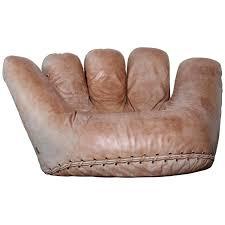 top baseball glove chair and ottoman y7761933