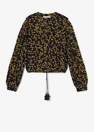 Aster Cropped Jasmine Floral Blouse
