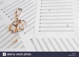 Treble Clef Music Sheet Treble Clef On Music Sheets Background Stock Photo 102672543 Alamy