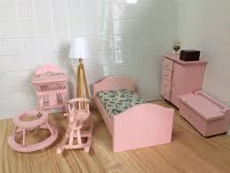 Miniature dollhouse furniture Simple 112 Dollhouse Miniature Bedroom Toy Furniture Pink Rocking Chair Nursery Set Qw80004 Ebay 112 Dollhouse Miniature Bedroom Toy Furniture Pink Rocking Chair