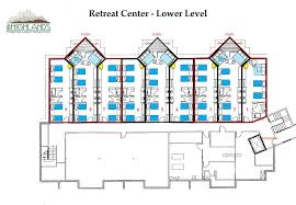 below for more detailed floorplans of the retreat center lodging rooms for your next womens or mens retreat family reunion or other gathering