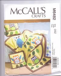 New McCalls Baby Quilt pattern owl quilt pillows two styles baby ... & New McCalls Baby Quilt pattern owl quilt pillows two styles baby owl  nursery design Adamdwight.com