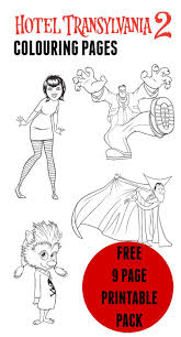 hotel transylvania colouring pages