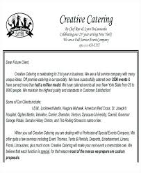 Template For Proposal Letter Sample Requesting Catering Services