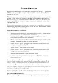Best Job Objectives For Resume Best Of Maintenance Resume Sample Objective Dadajius